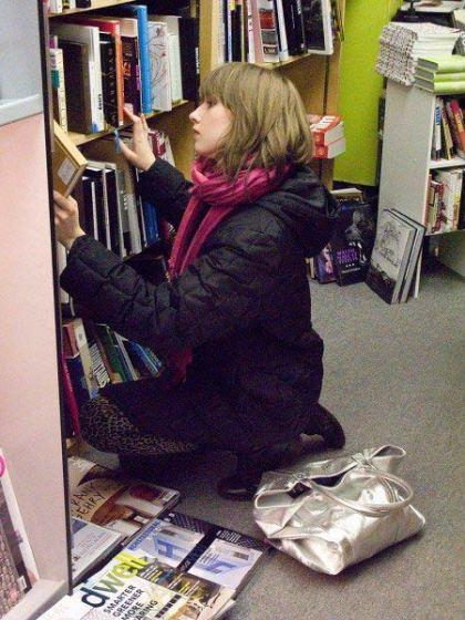 Girl at Sophia Books